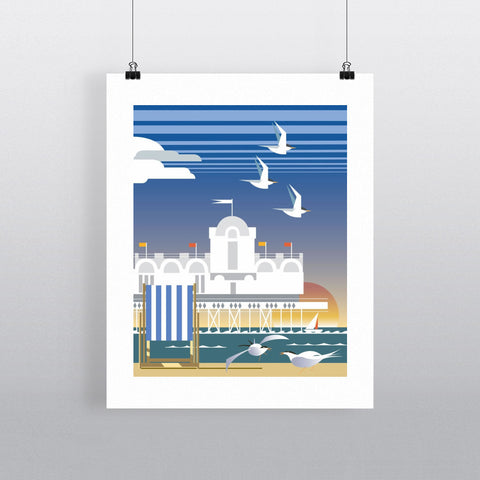 "THOMPSON068: Southsea, Portsmouth. 24"" x 32"" Matte Mounted Print"