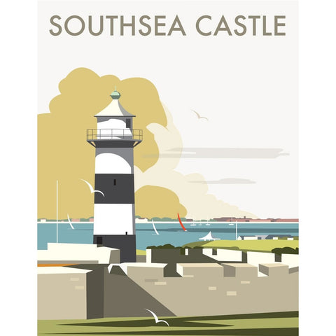 "THOMPSON069: Southsea Castle, Portsmouth. 24"" x 32"" Matte Mounted Print"