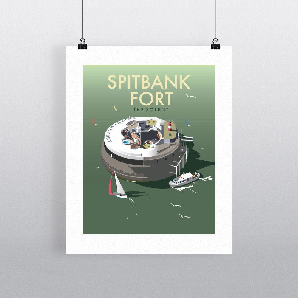 "THOMPSON071: Spitbank Fort, The Solent. 24"" x 32"" Matte Mounted Print"