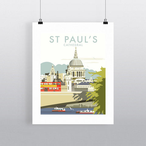 "THOMPSON072: St Paul's Cathedral, London. 24"" x 32"" Matte Mounted Print"