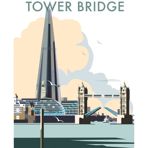 "THOMPSON078: Tower Bridge and The Shard, London. 24"" x 32"" Matte Mounted Print"