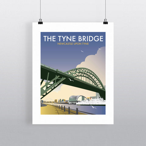 "THOMPSON079: The Tyne Bridge, Newcastle Upon Tyne. 24"" x 32"" Matte Mounted Print"