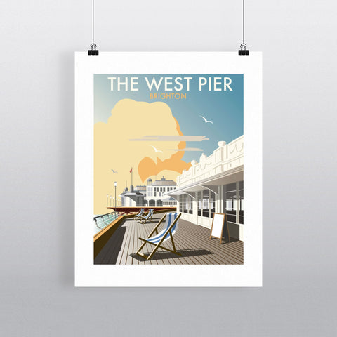 "THOMPSON081: The West Pier, Brighton. 24"" x 32"" Matte Mounted Print"