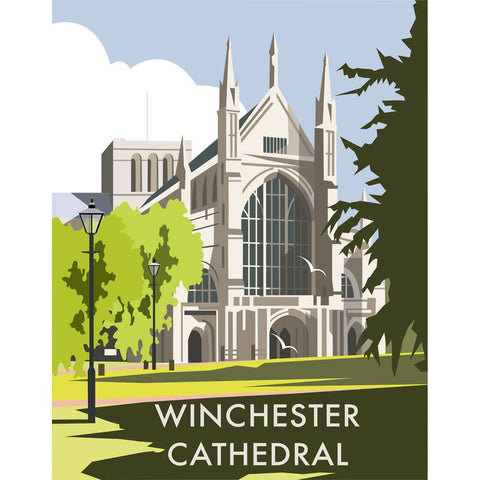 "THOMPSON082: Winchester Cathedral. 24"" x 32"" Matte Mounted Print"