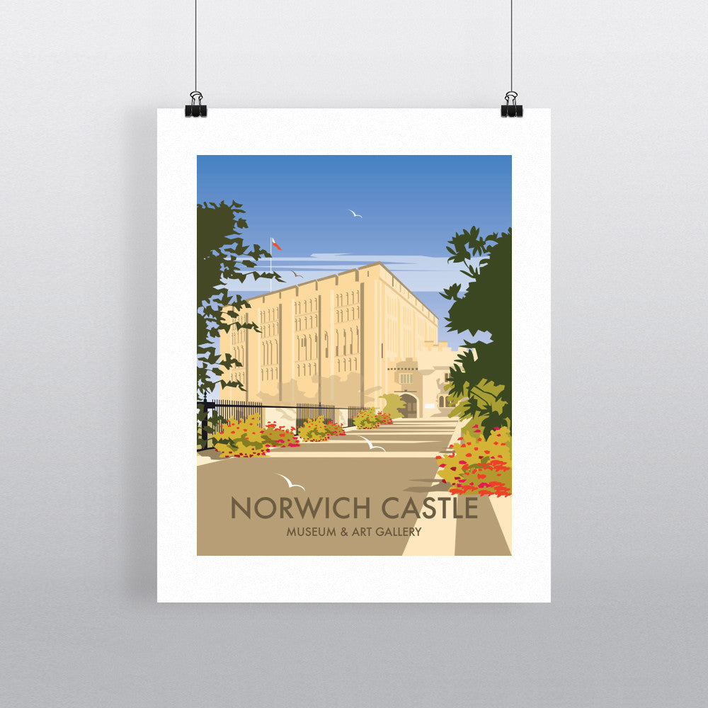 "THOMPSON084: Norwich Castle, Norfolk. 24"" x 32"" Matte Mounted Print"
