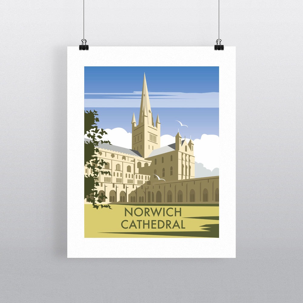 "THOMPSON085: Norwich Cathedral, Norfolk. 24"" x 32"" Matte Mounted Print"