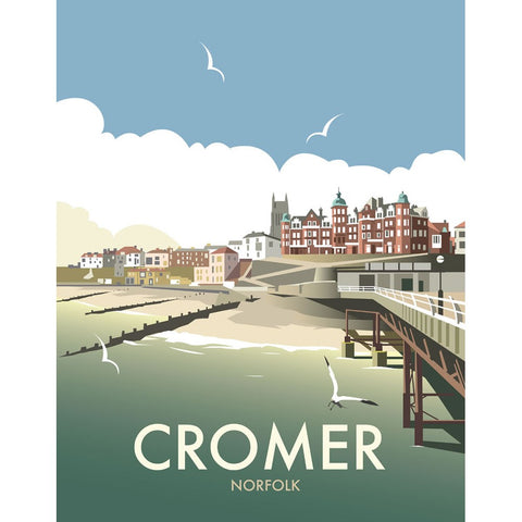 "THOMPSON093: Cromer, Norfolk. 24"" x 32"" Matte Mounted Print"
