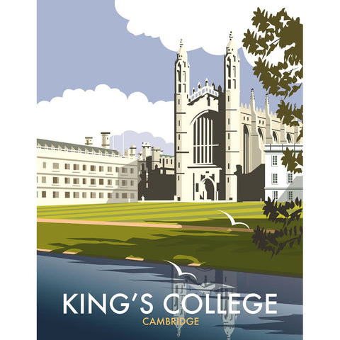 "THOMPSON107: King's College, Cambridge. 24"" x 32"" Matte Mounted Print"