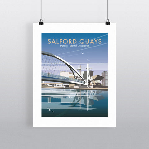 "THOMPSON109: Salford Quays, Greater Manchester. 24"" x 32"" Matte Mounted Print"