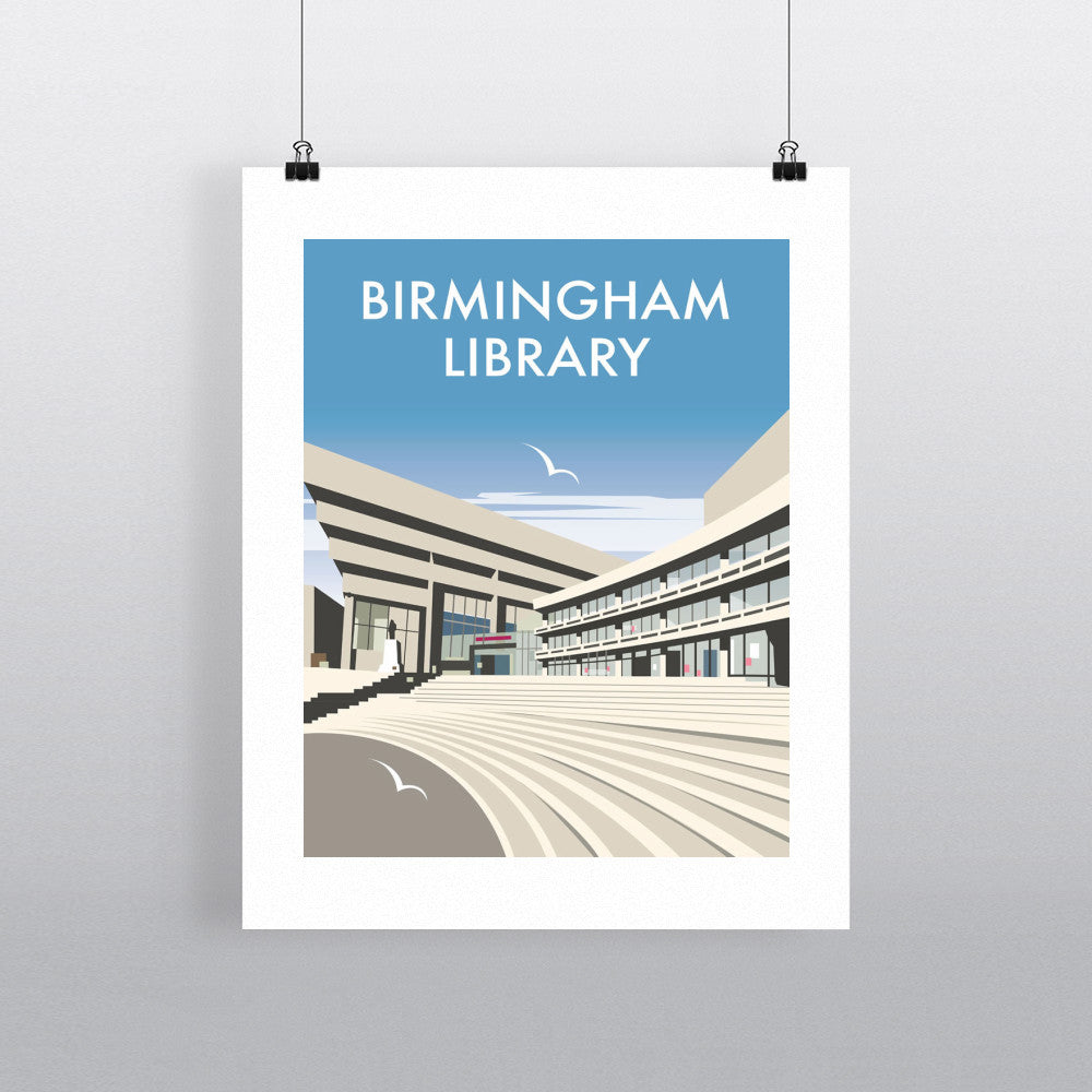 "THOMPSON110: Birmingham Central Library. 24"" x 32"" Matte Mounted Print"