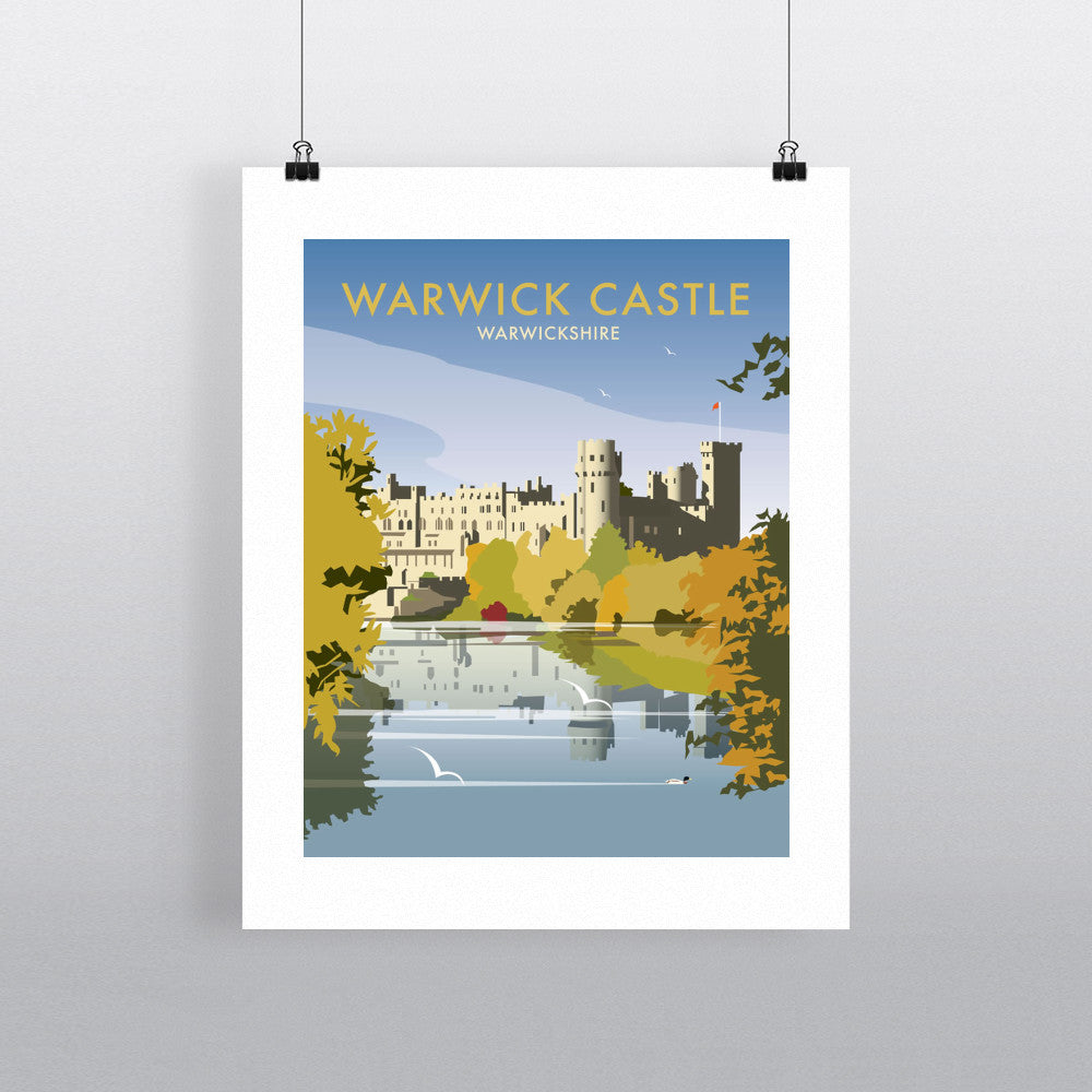 "THOMPSON111: Warwick Castle. 24"" x 32"" Matte Mounted Print"