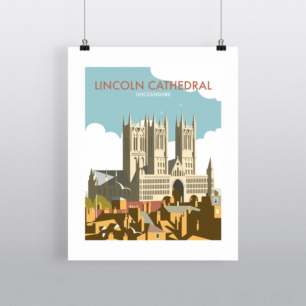 "THOMPSON112: Lincoln Cathedral. 24"" x 32"" Matte Mounted Print"