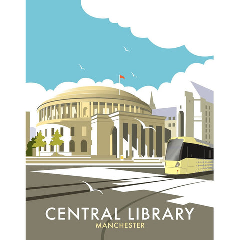 "THOMPSON114: Manchester Central Library, 24"" x 32"" Matte Mounted Print"