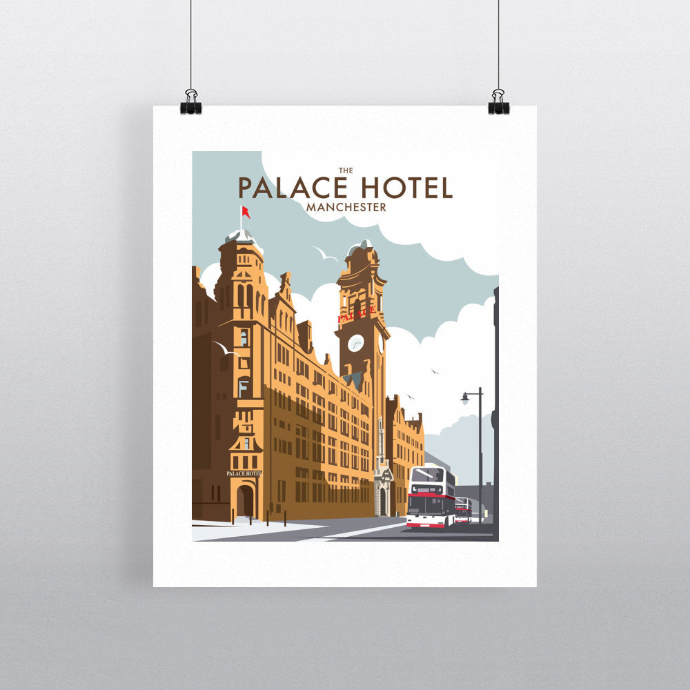 "THOMPSON115: The Palace Hotel, Manchester. 24"" x 32"" Matte Mounted Print"