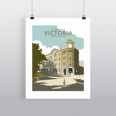 "THOMPSON119: Victoria Station, Manchester. 24"" x 32"" Matte Mounted Print"