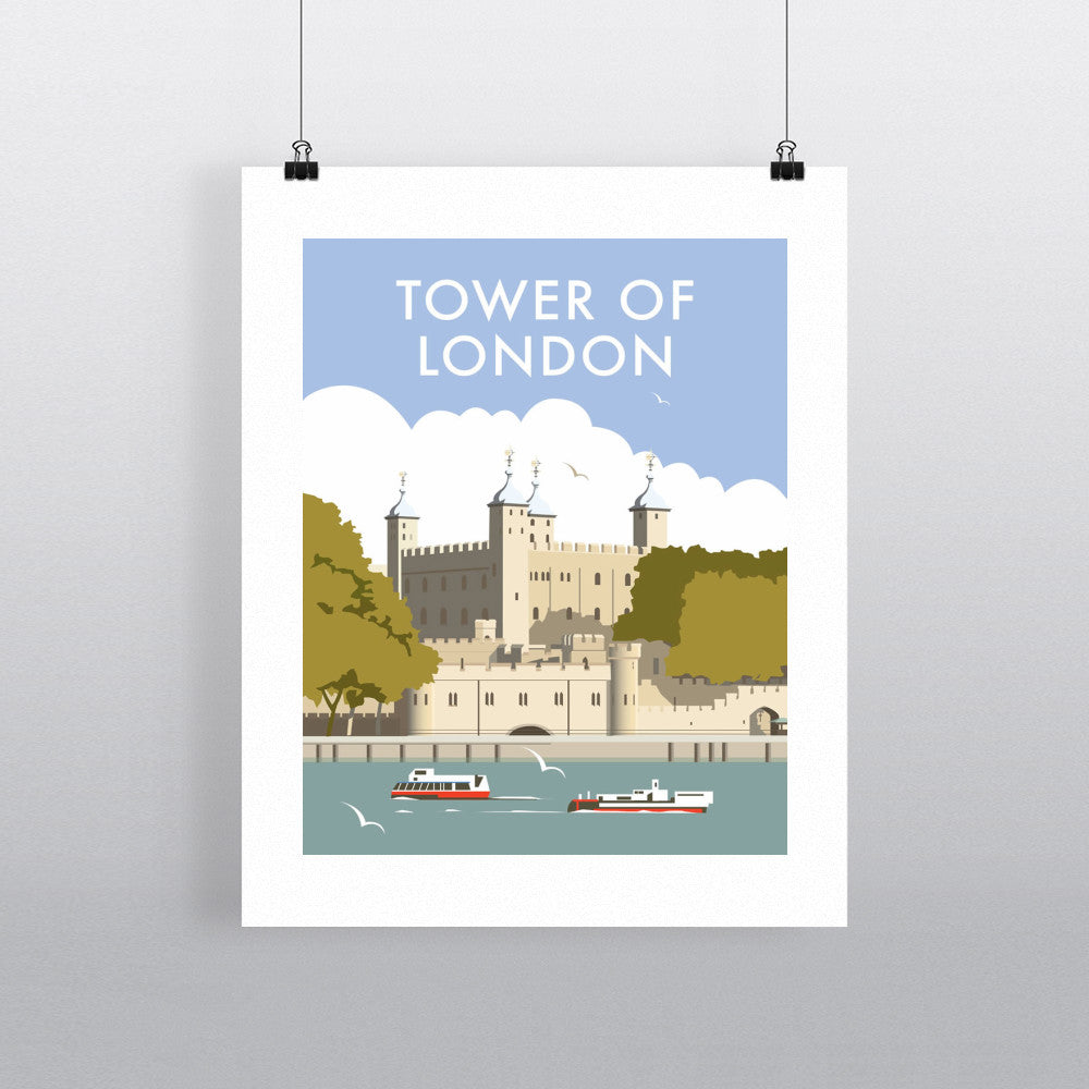 "THOMPSON120: The Tower of London. 24"" x 32"" Matte Mounted Print"