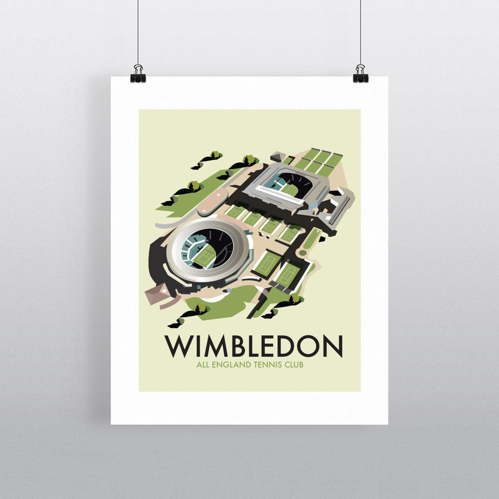"THOMPSON121: Wimbledon. 24"" x 32"" Matte Mounted Print"