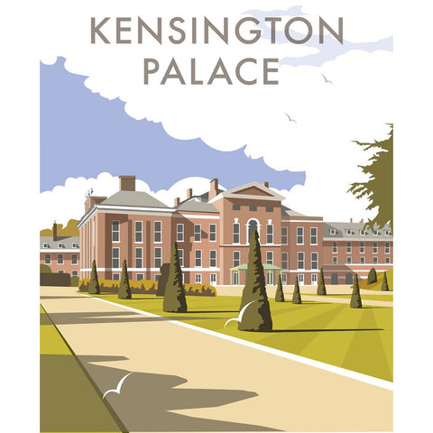"THOMPSON122: Kensington Palace. 24"" x 32"" Matte Mounted Print"
