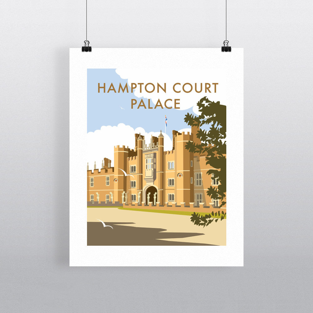 "THOMPSON123: Hampton Court Palace. 24"" x 32"" Matte Mounted Print"