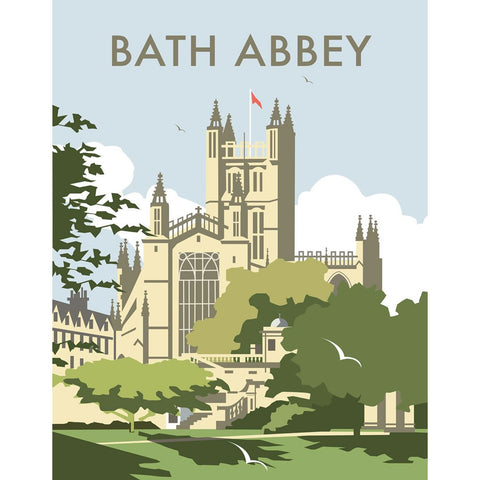 "THOMPSON139: Bath Abbey. 24"" x 32"" Matte Mounted Print"
