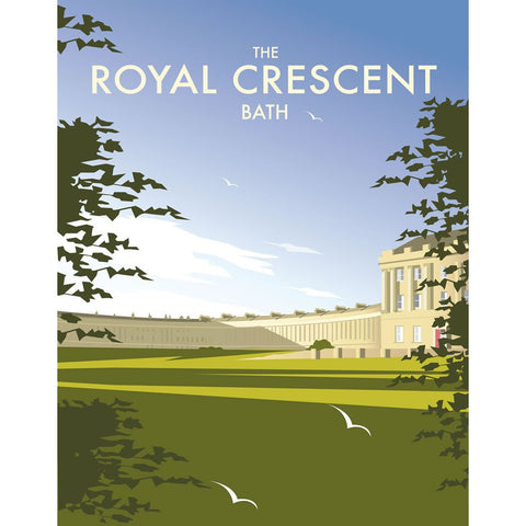"THOMPSON141: The Royal Crescent, Bath. 24"" x 32"" Matte Mounted Print"