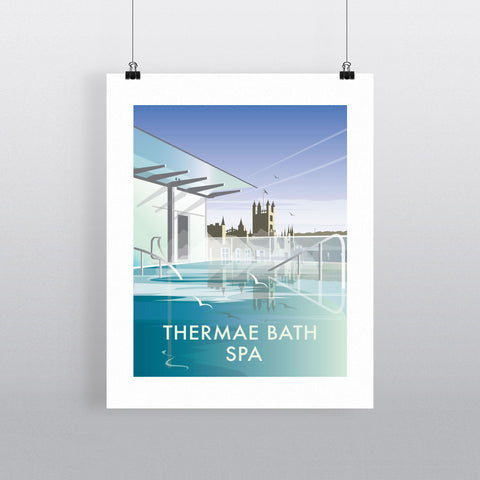 "THOMPSON142: Thermae Bath Spa, Bath. 24"" x 32"" Matte Mounted Print"