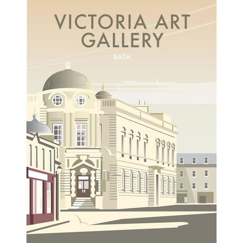 "THOMPSON143: Victoria Art Gallery, Bath. 24"" x 32"" Matte Mounted Print"
