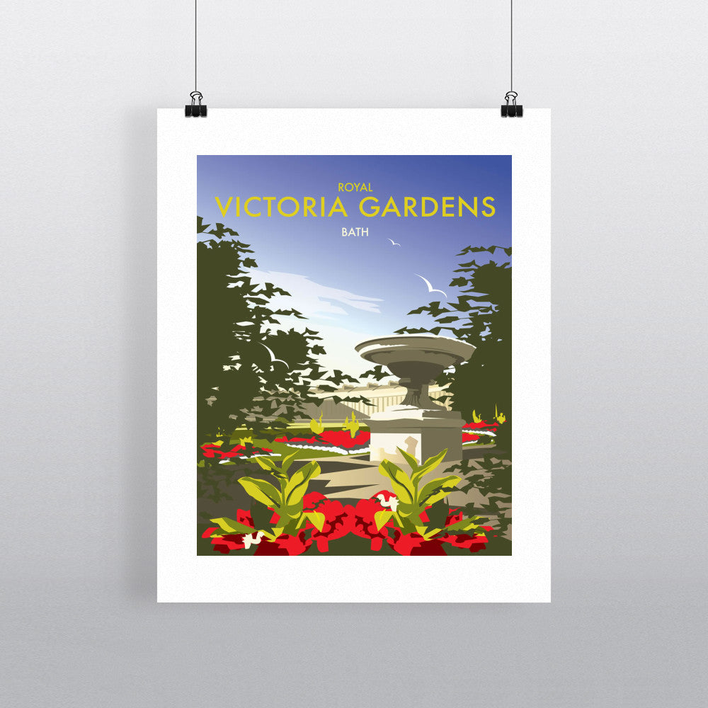 "THOMPSON144: Royal Victoria Gardens, Bath 24"" x 32"" Matte Mounted Print"