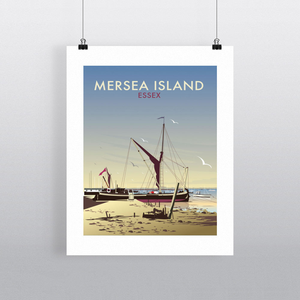 "THOMPSON147: Mersea Island, Essex 24"" x 32"" Matte Mounted Print"