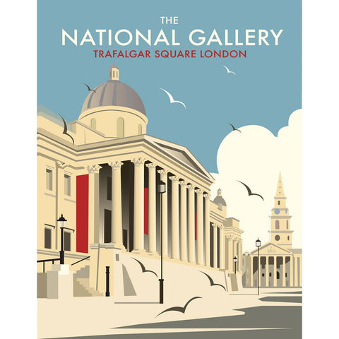 "THOMPSON148: The National Gallery, London 24"" x 32"" Matte Mounted Print"