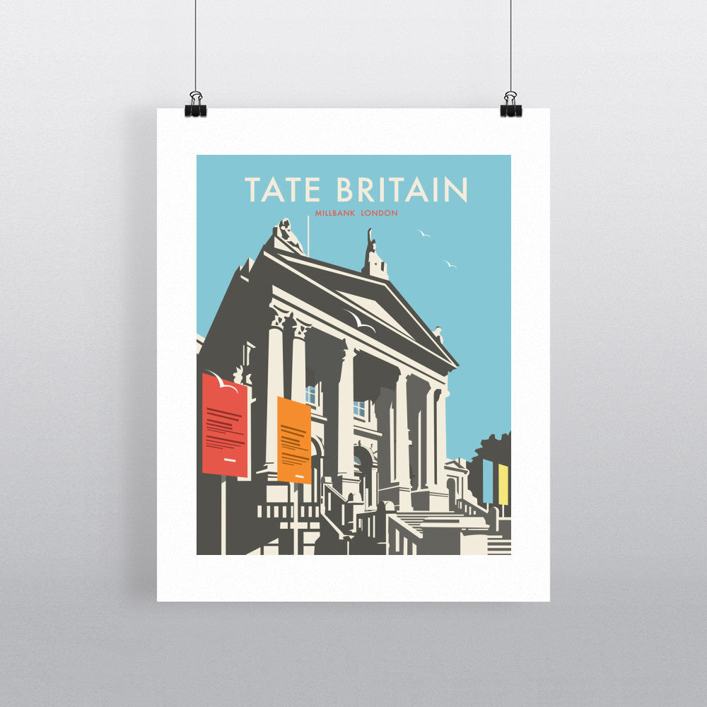 "THOMPSON152: Tate Britain. 24"" x 32"" Matte Mounted Print"