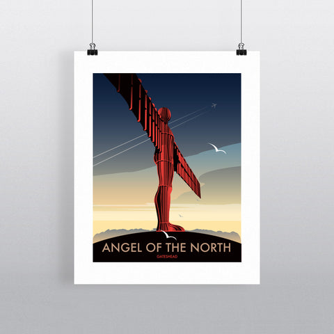"THOMPSON154: Angel of The North, Gateshead 24"" x 32"" Matte Mounted Print"