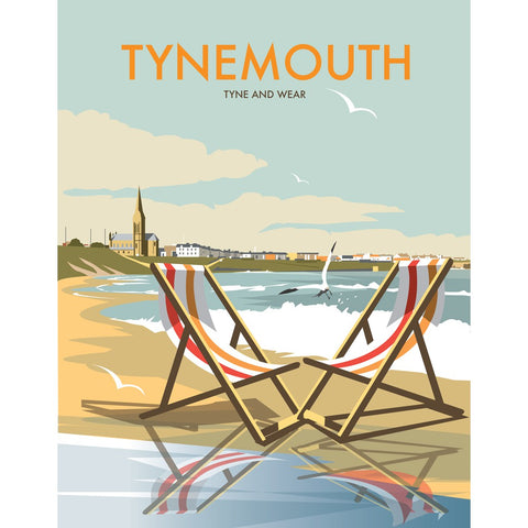 "THOMPSON155: Tynemouth 24"" x 32"" Matte Mounted Print"