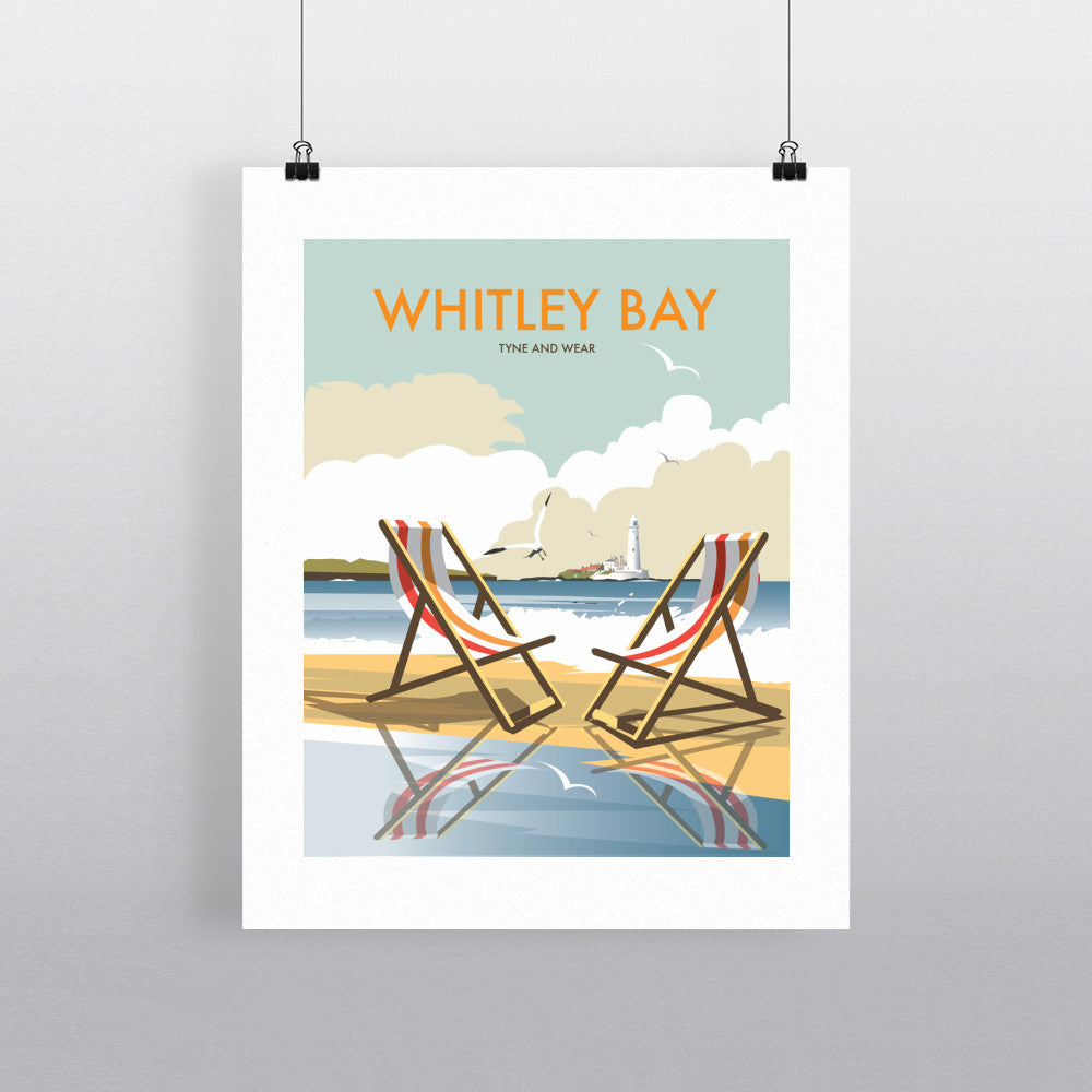 "THOMPSON156: Whitley Bay 24"" x 32"" Matte Mounted Print"