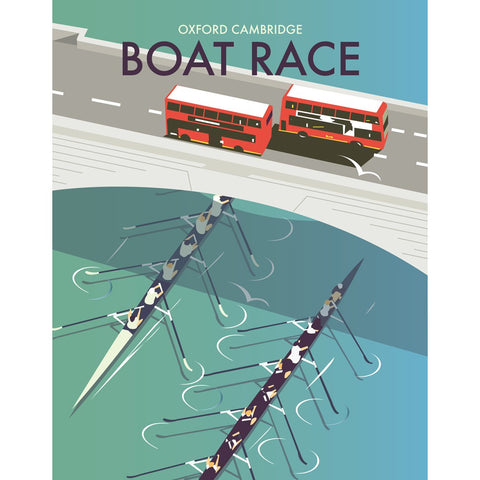 "THOMPSON161: The Boat Race 24"" x 32"" Matte Mounted Print"