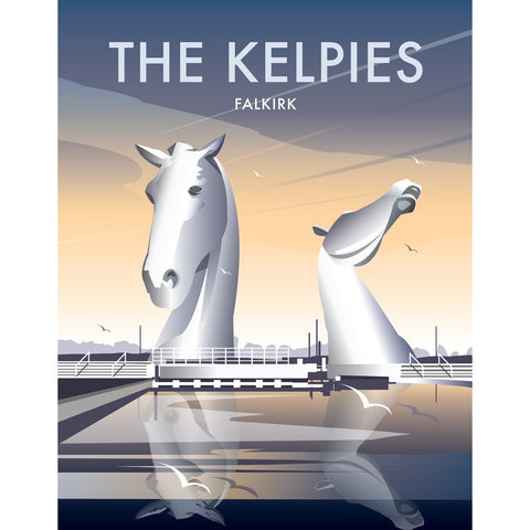 "THOMPSON165: The Kelpies 24"" x 32"" Matte Mounted Print"