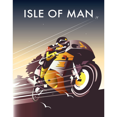 "THOMPSON177: Isle of Man Racer 24"" x 32"" Matte Mounted Print"