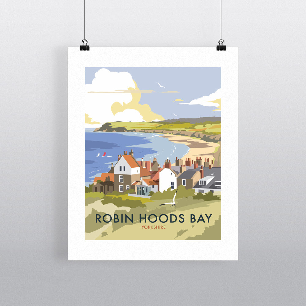 "THOMPSON185: Robin Hoods Bay 24"" x 32"" Matte Mounted Print"