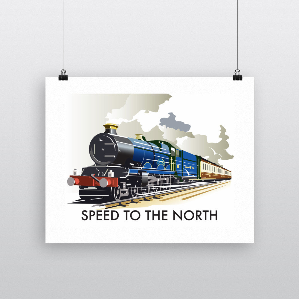 "THOMPSON188: Speed to the North 24"" x 32"" Matte Mounted Print"