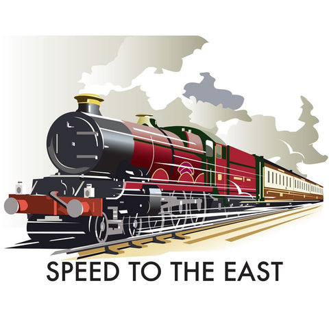 "THOMPSON189: Speed to the East 24"" x 32"" Matte Mounted Print"