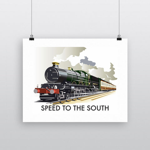 "THOMPSON190: Speed to the South 24"" x 32"" Matte Mounted Print"