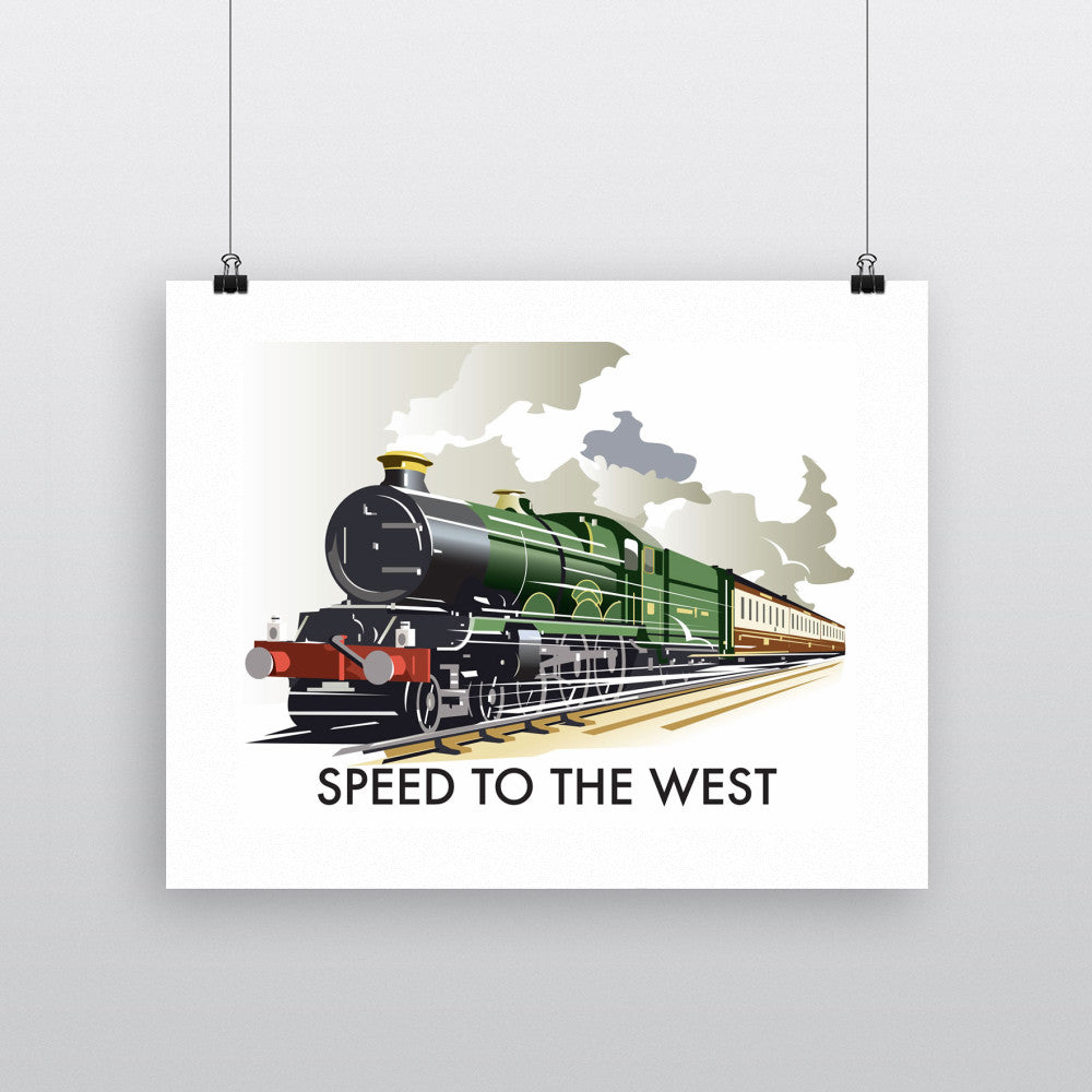 "THOMPSON191: Speed to the West 24"" x 32"" Matte Mounted Print"