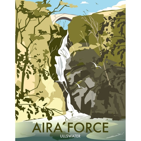 "THOMPSON192: Aira Force, Ullswater 24"" x 32"" Matte Mounted Print"