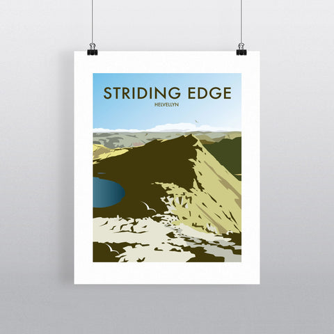"THOMPSON193: Striding Edge, Helvellyn 24"" x 32"" Matte Mounted Print"