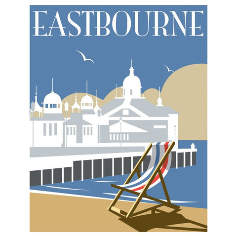 "THOMPSON194: Eastbourne 24"" x 32"" Matte Mounted Print"