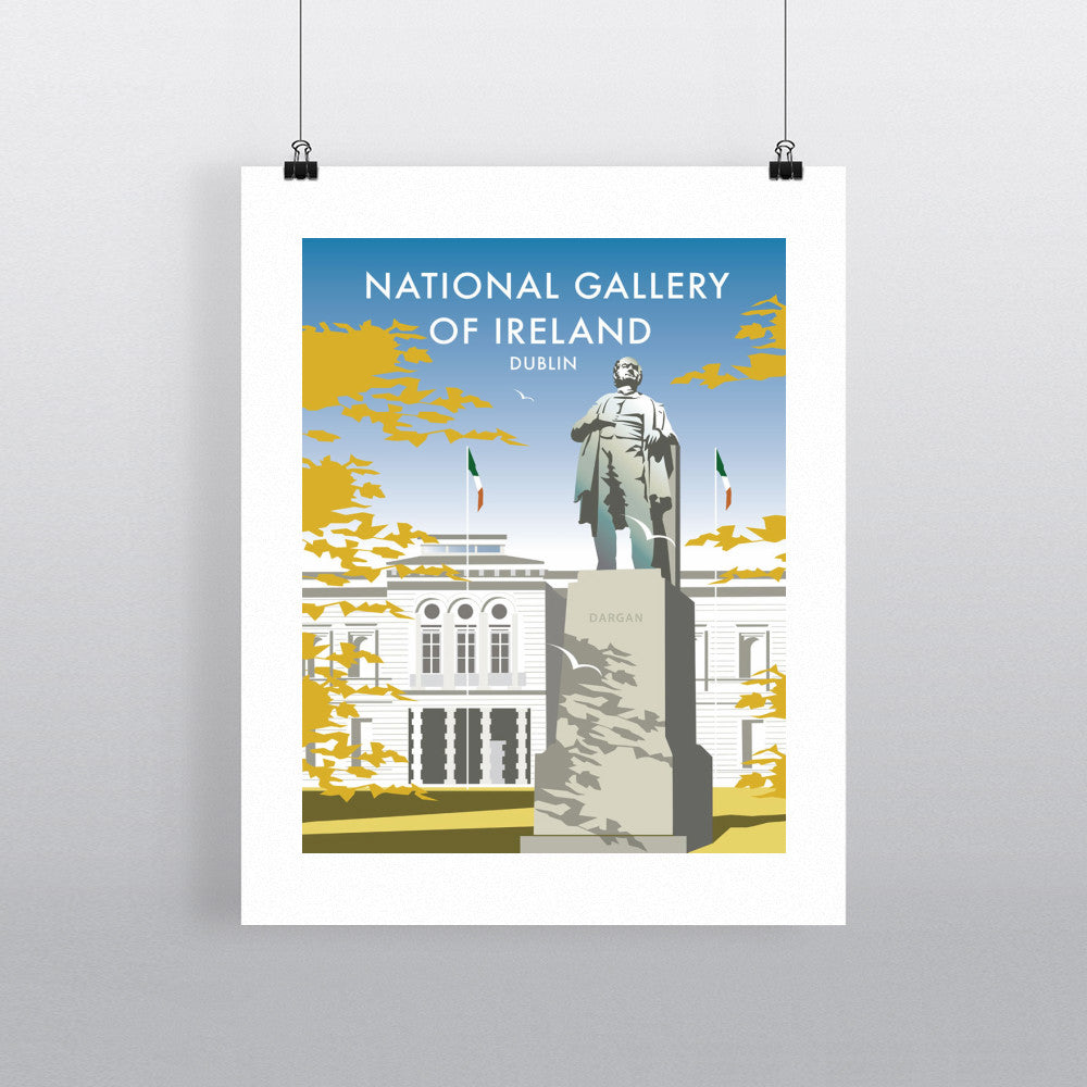 "THOMPSON195: The National Gallery of Ireland 24"" x 32"" Matte Mounted Print"