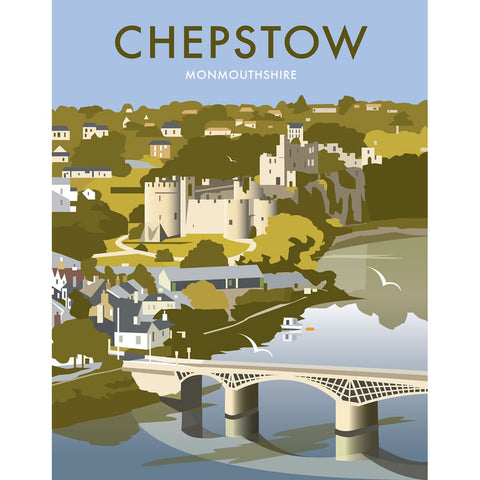 "THOMPSON196: Chepstow, South Wales 24"" x 32"" Matte Mounted Print"