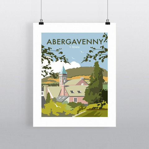 "THOMPSON197: Abergavenny, South Wales 24"" x 32"" Matte Mounted Print"