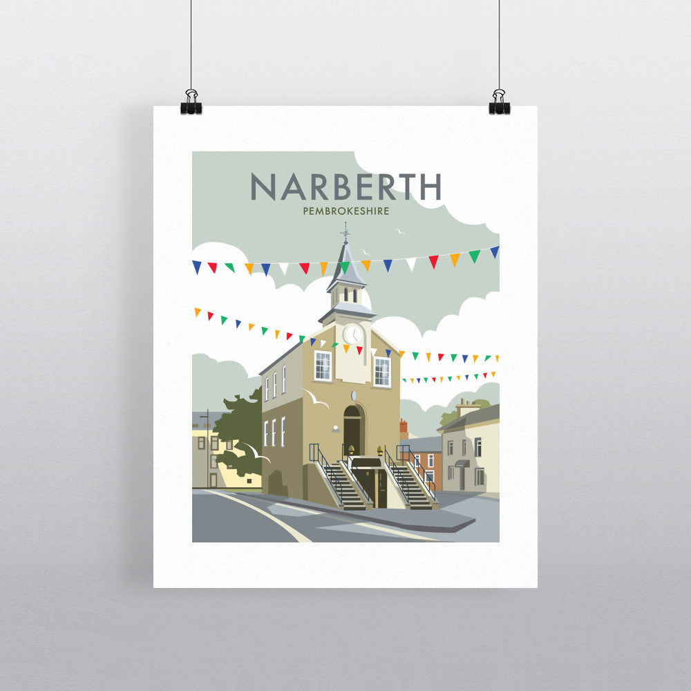 "THOMPSON203: Narberth, South Wales 24"" x 32"" Matte Mounted Print"