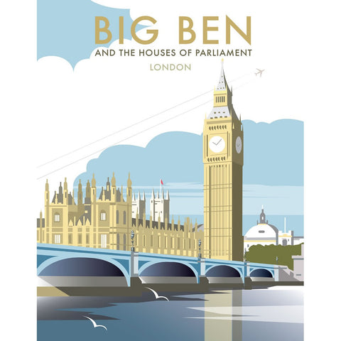 "THOMPSON206: Big Ben and the Houses of Parliament 24"" x 32"" Matte Mounted Print"